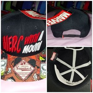 Marvel Merv with a mouth snapback hat